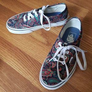 Van's Paisley Print Canvas Shoes